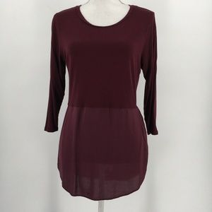 Two By Vince Camuto Top Long Sleeve Side Split